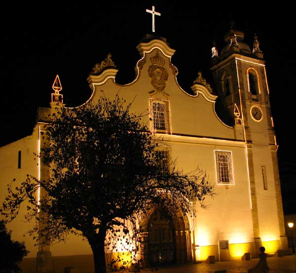Portimao cathedral at night