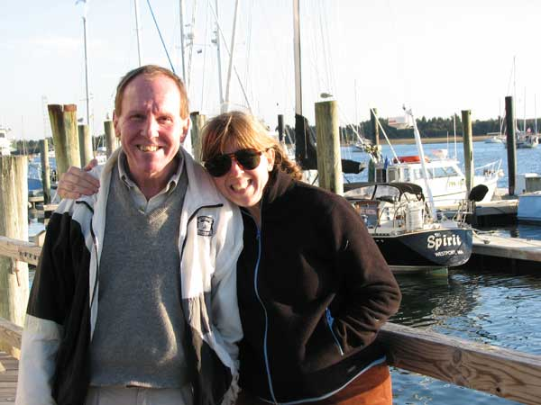 Stevie and me in Beaufort, North Carolina, 2008