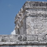 Carvings at Tulum.