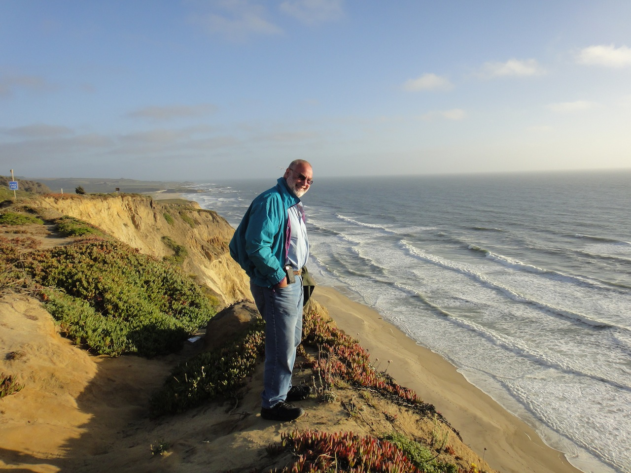 Visiting the coast near Santa Cruz