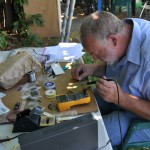 Soldering Choose Art in the backyard