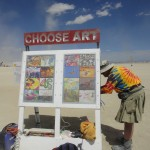 Working on Choose Art at Burning Man, 2012