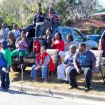Large group watching the parade