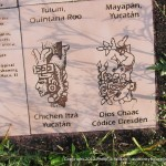 Information sign showing what carvings were found at different sites.