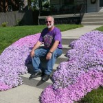 Philip loved purple, and loved the way these flowers matched his shirt