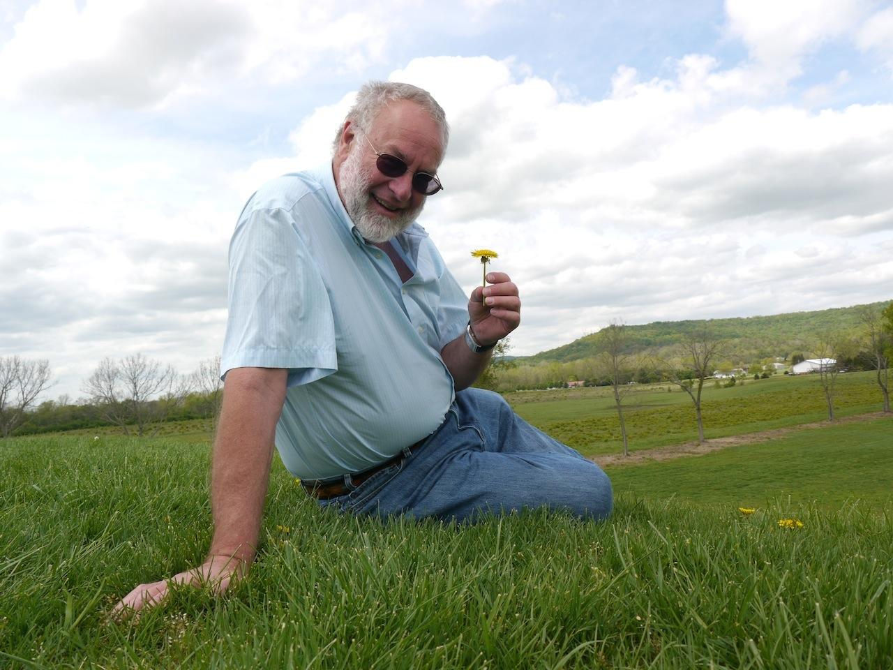 He even enjoyed dandelions