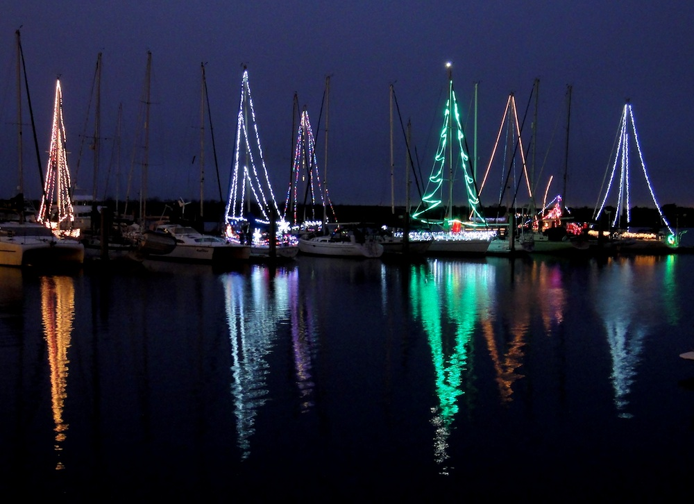 The dock next to ours was full of decorated boats