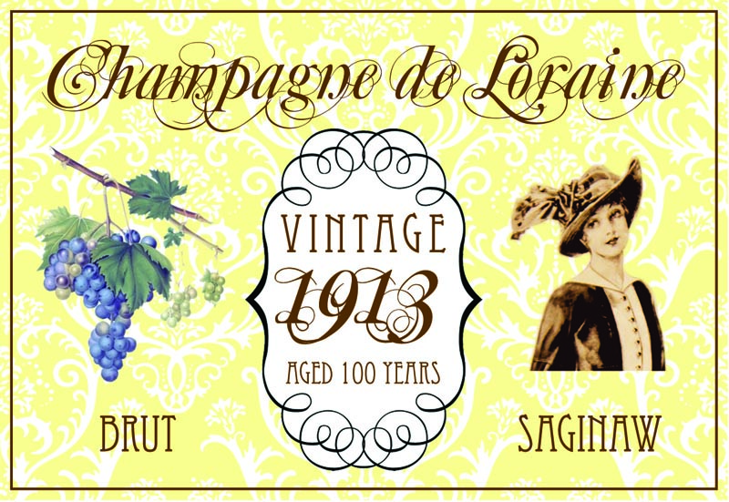 The Champagne de Loraine label: Vintage 1913