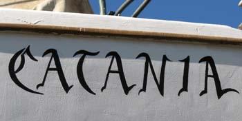 Catania's bow