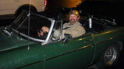 Captain Craig in his MG-B.