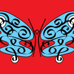 Meps' original flutterby logo
