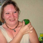 Jeanie with Glass Froggie