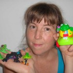 Meps with Playskool Froggie, Sparkle Froggie, and the Little Froggies