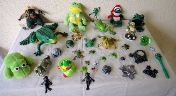 Display of Stevie's Froggies