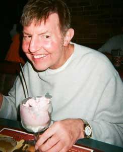 A big bowl of strawberry ice cream - yum!