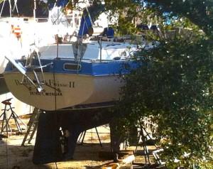 Lance's sailboat