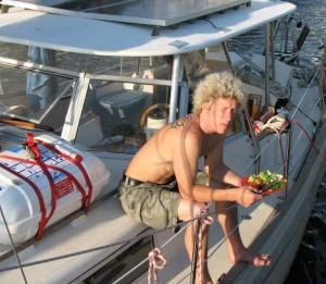 Lowe aboard Kuhelli