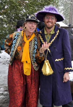 Margaret and Barry at Mardi Gras in Gloucester, NC