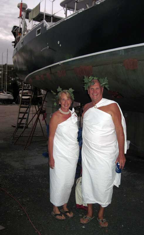 This is what we'll all be wearing to work on our boats, instead of those boooooring Tyvek suits.