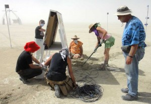The setup crew on the playa