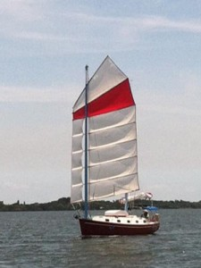 Flutterby with mainsail set